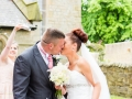 First Kiss, Mark-Claire, Wedding Photography, Bishop Auckland, County Durham