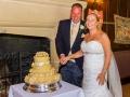 Cutting of the Cake - Guy & Nicola - Manor House, West Auckland - Wedding Photographer - 265