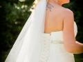 Wedding Dress - Guy & Nicola - Manor House, West Auckland - Wedding Photographer - 269