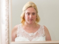 Bride looks into mirror, Paul & Faye - Wedding Photographer Bishop Auckland, North East