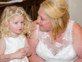 Bride & Daughter, Paul & Faye - Wedding Photographer County Durham