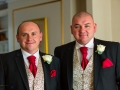 Groom & Best Man, Paul & Faye - Wedding Photography, Barnard Castle, Durham Registry Office