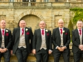 Groomsmen, Bowes Museum, Paul & Faye - Wedding Photographer, Bowes Museum, Barnard Castle