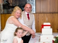 Cutting of the Cake, Paul & Faye - Wedding Photographer, Bowes Museum, Barnard Castle
