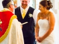 13-Ryan & Emma- Wedding Photography Bishop Auckland, Durham (Bride Groom Laugh)