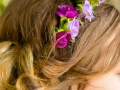 Hair Decorations, Steve & Jasmin, St Cuthberts Church, High Etherley, Bishop Auckland Wedding Photography