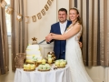 51- Tom & Katrina- Cutting of Cake, Photography, Bishop Auckland