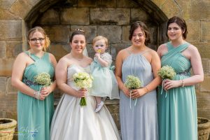 Jason&Steph Bride and Bridesmaids- Lumley Castle Wedding Photography, Durham
