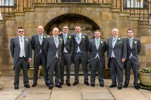 Jason&Steph Groomsmen- Lumley Castle Wedding Photography, Durham