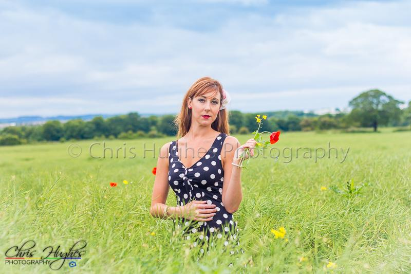 Summer Meadow Durham - Model: Ellen Robley
