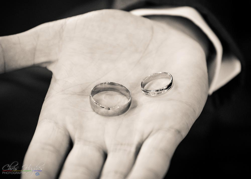 The Rings, Wedding Photography at St. John's Church, Shildon, Bishop Auckland