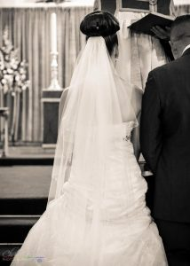Wedding Dress Detail, Wedding Photography at St. John's Church, Shildon, Bishop Auckland