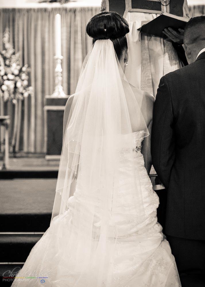 Wedding Dress Detail, Wedding Photography at St. John's Church, Shildon, Bishop Auckland
