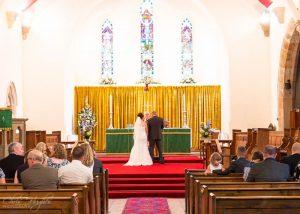 Ceremony, Wedding Photography at St. John's Church, Shildon, Bishop Auckland