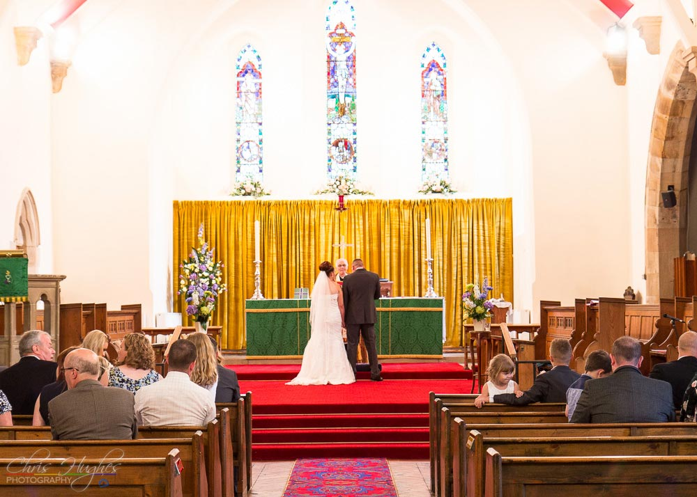 Ceremony, Wedding Photography at St. John's Church, Shildon, Bishop Auckland