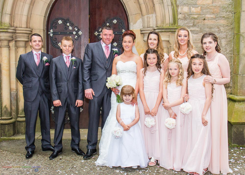 Wedding Party, Wedding Photography at St. John's Church, Shildon, Bishop Auckland