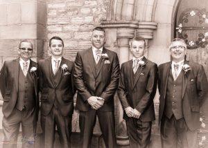 Groomsmen, Wedding Photography at St. John's Church, Shildon, Bishop Auckland