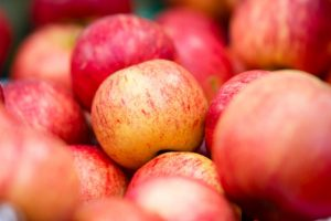 Red Apples at Bishop Auckland Market - World Photo Day