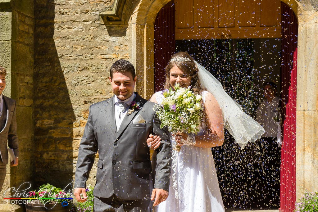 Wedding Confetti - Chris Hughes Photography