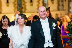 Bride & Groom, Wedding Photographer of John & Gill at St James Church, Bishop Auckland