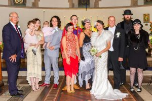 Family Photography at the wedding of John & Gill at St James Church, Bishop Auckland