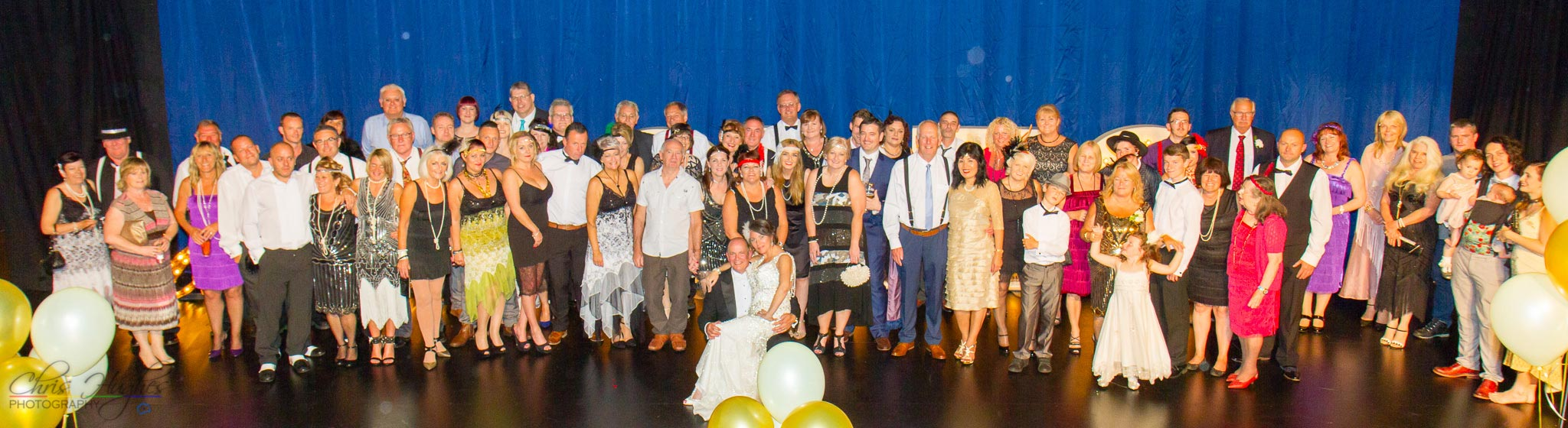 Group photo of the guests at The Majestic, Darlington