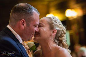 The Kiss, Manor House Wedding, County Durham