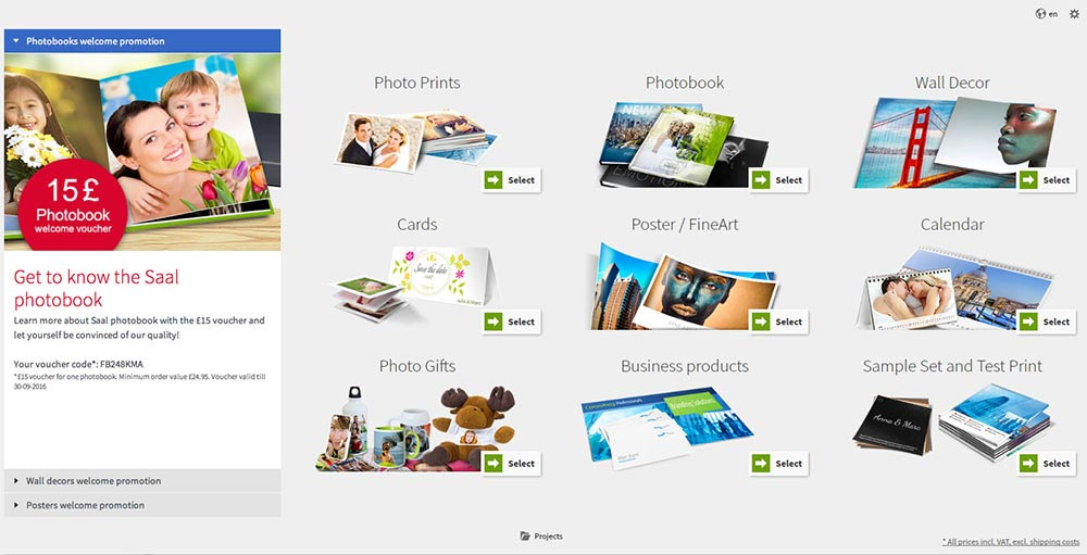 Saal Design Software - Product Selection