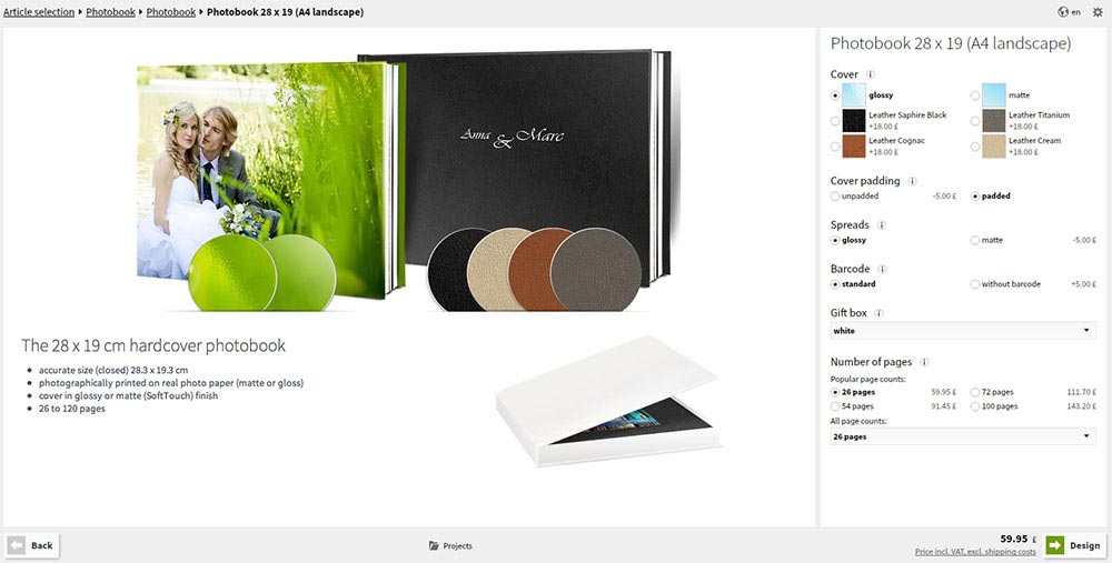 Saal Design Software - Photo Book Cover