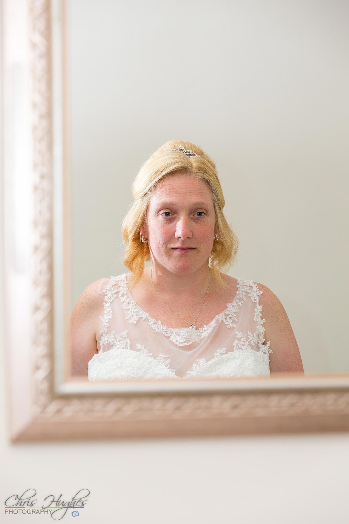 Bride looking on, Paul & Faye Wedding Barnard Castle Registry Office ...