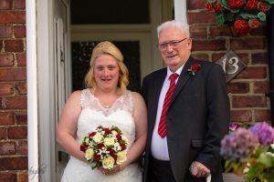 Bride with her father, Paul & Faye Wedding Barnard Castle Registry Office