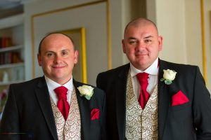 Groom & Best Man, Paul & Faye Wedding Barnard Castle Registry Office