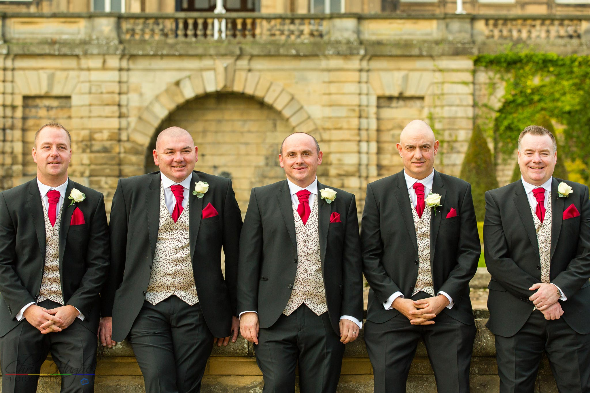 The Groomsmen, Paul & Faye Wedding Barnard Castle Bowes Museum