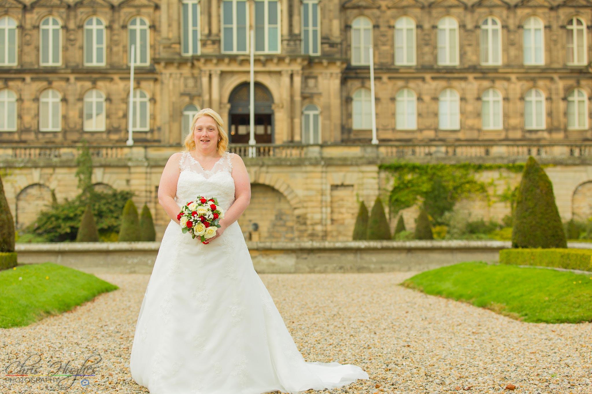 Bride, Paul & Faye Wedding Barnard Castle Bowes Museum