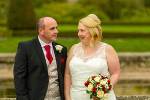 Bride & Groom, Paul & Faye Wedding Barnard Castle Bowes Museum