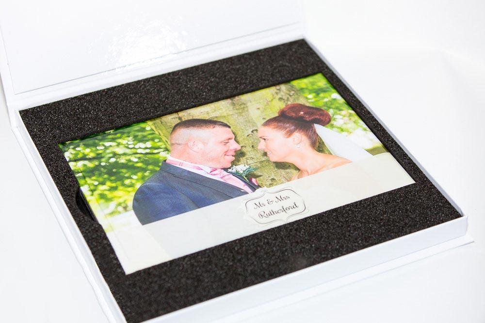 Photo Book Presentation Storage Box - White or Anthracite - Inside
