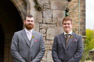 Groom & Best Man, Wedding Photography Bishop Auckland, Durham