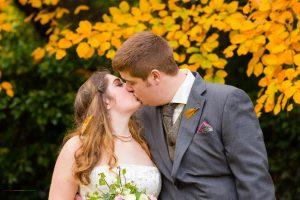 Bride & Groom Kiss, Photography Bishop Auckland, Durham