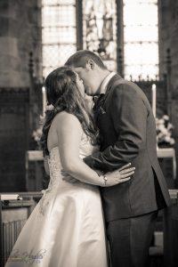 First Kiss, Wedding Photography Bishop Auckland, Durham