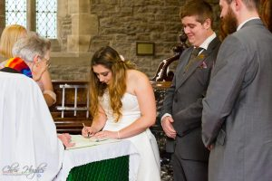 Signing of the Register, Wedding Photography Bishop Auckland, Durham