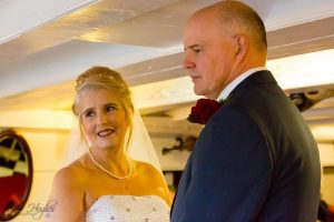 The Bride & Groom, Captains Quarters, HMS Trincomalee