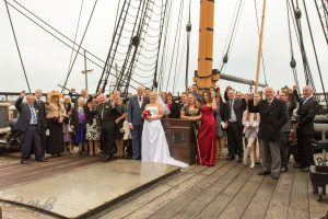 The wedding guests, HMS Trincomalee