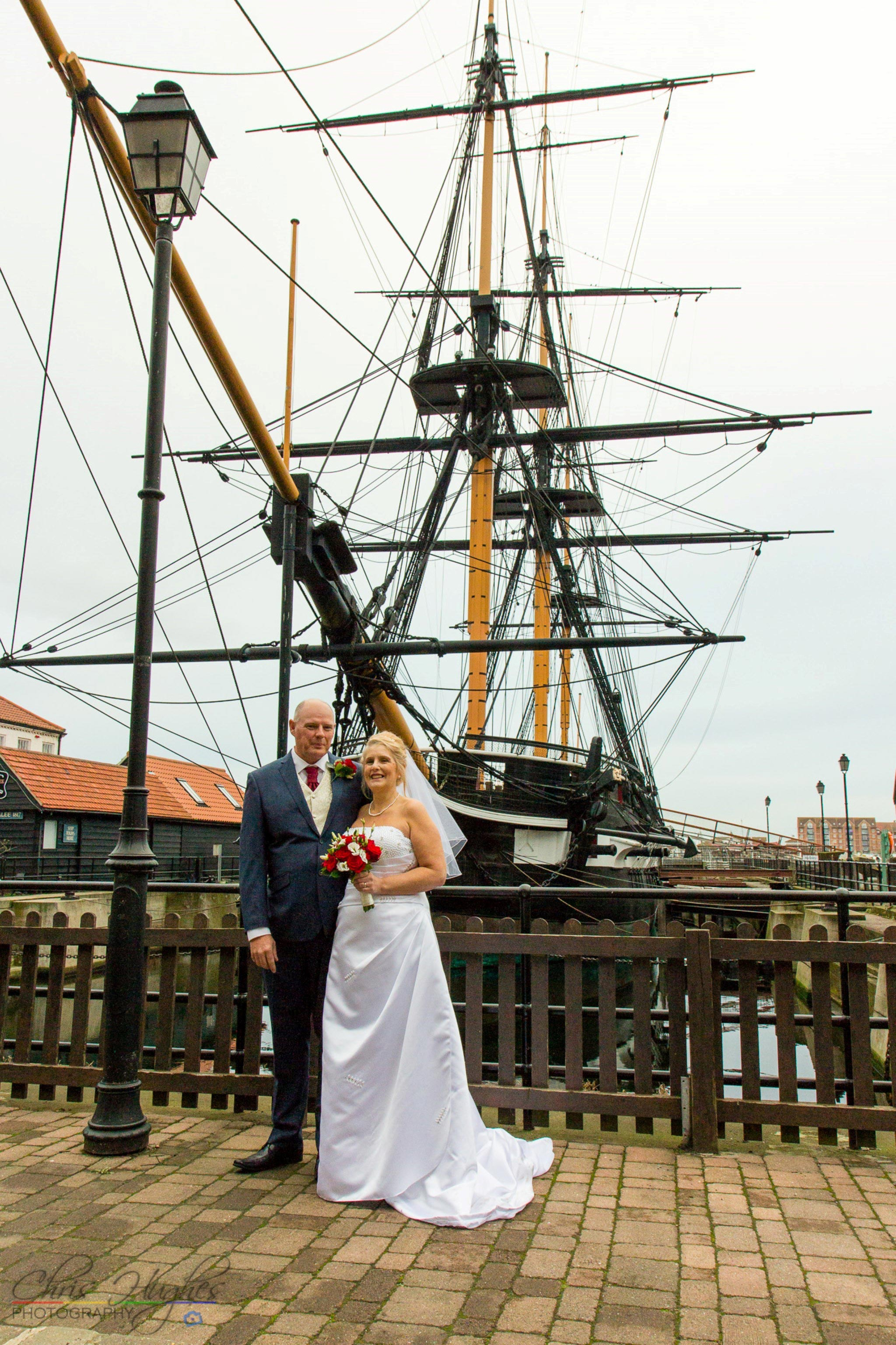 Bride & Groom, HMS Trincomalee, Hartlepool