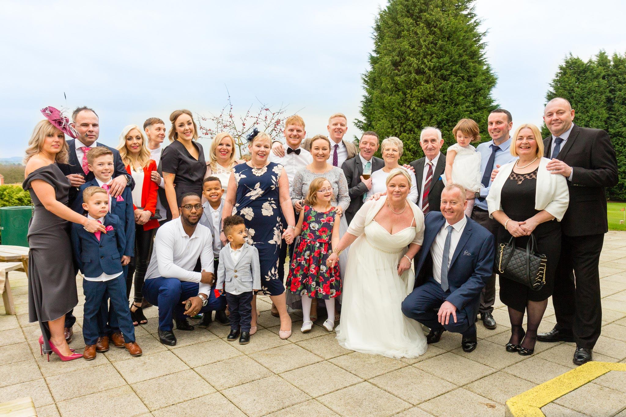 Wedding Group Photos - Woodham Golf Club