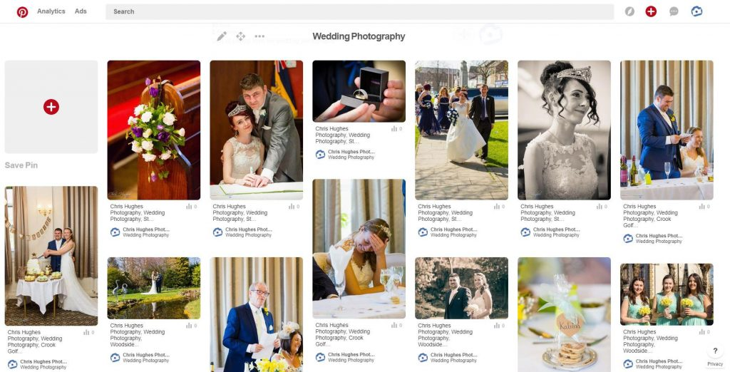 Pinterest - Chris Hughes Photography Wedding Board