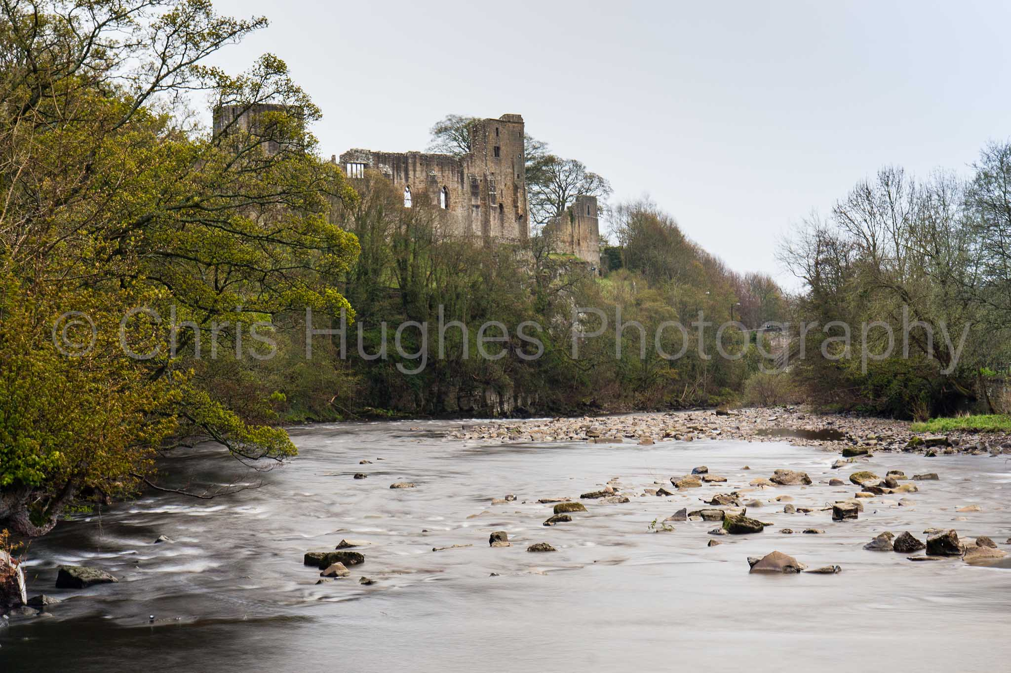 Barnard Castle above the River Tees