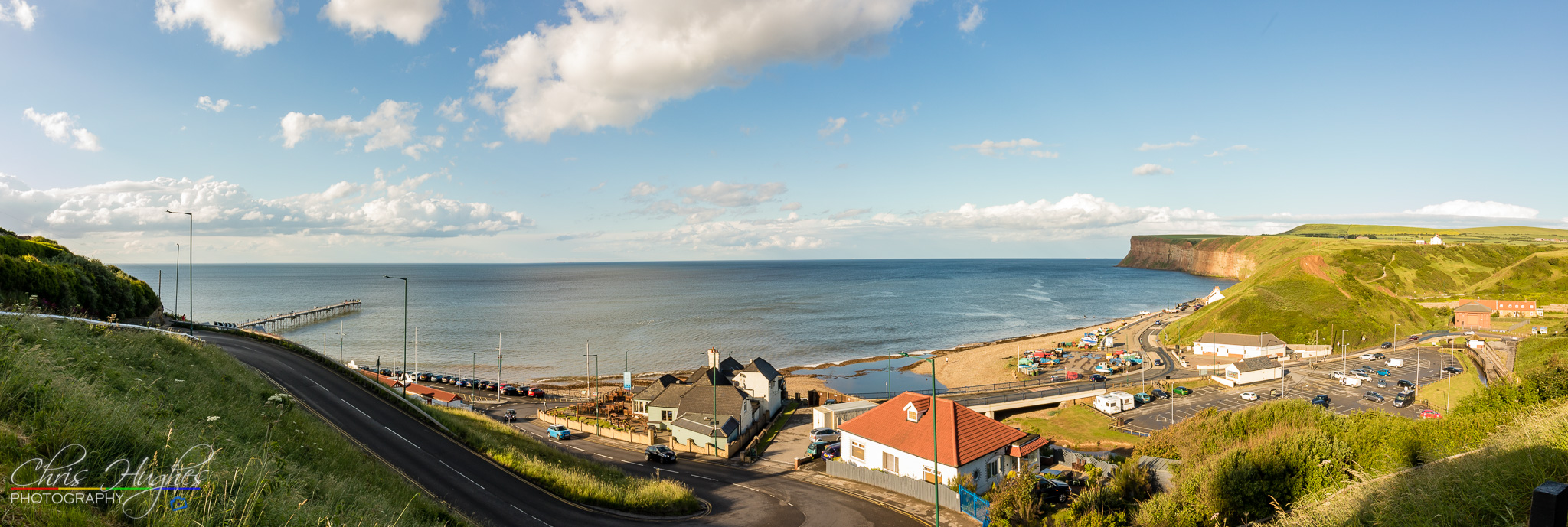 A view over Saltburn-by-the-Sea bay
